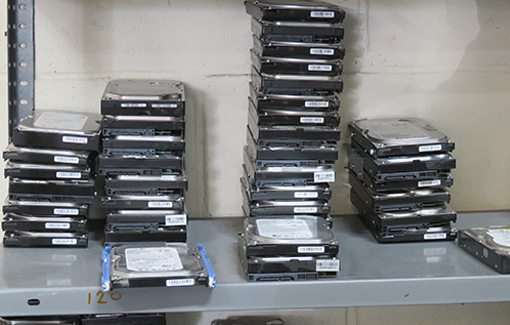 Hard Drives Ready To Be Shredded