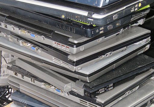 Laptops Collected For Disposal